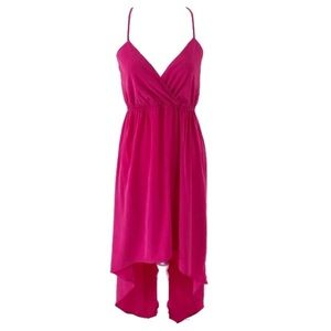 Everly Small Pink High Low Spaghetti Strap Dress